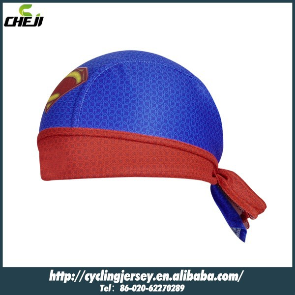Pro Team cycling cap Good Quality Polyester Can Customized superman cap