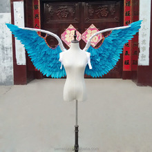 Halloween blue large angel wings