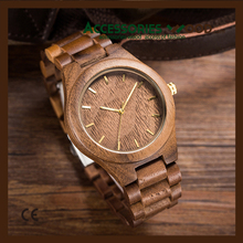 High quality 100% natural sandalwood wood watch, custom brand logo