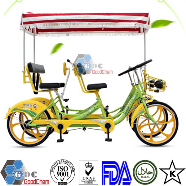 Luxurious 4 Person Tandem Quadricycle Surrey Sightseeing Bike For Sale