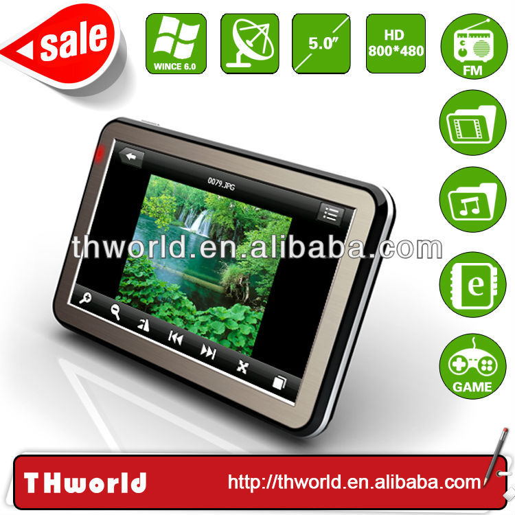 Wholesale promotion 5 inch touch screen mtk auto gps with 800MHz CPU 4GB memory