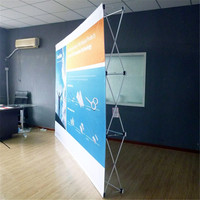 Trade Show display Pop up backdrop banner stand 225cmx225cm