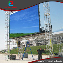 Outdoor P8 full color LED screen video wall, p8 smd RGB LED display advertising video large screen