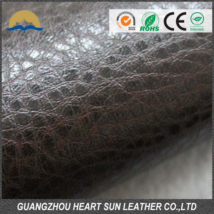 factory cheap price pvc artificial leather stock for sofa car seat JCZS067