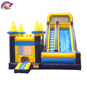 2018 Castle type inflatable bouncer jumping bounce house with slide