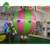 Colorful Giant Inflatable Ground Balloon, Rainbow Advertising Balloon For Sale