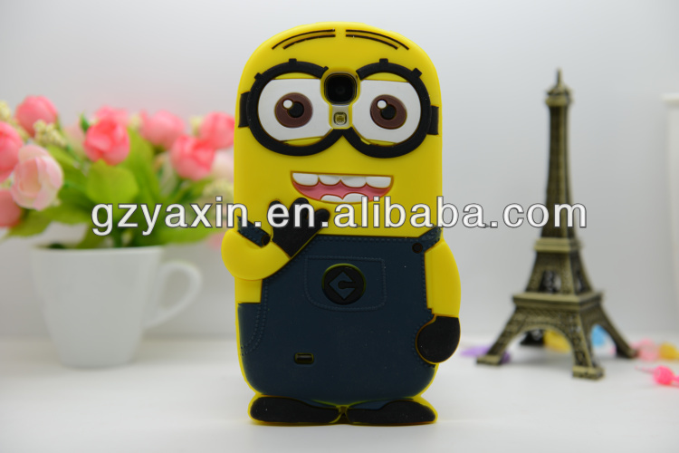 Despicable Me 2 Minions 3d Silicone Soft Case,Cute Despicable Me Minion Case For Samsung Galaxy S4 i9500