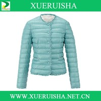 2015 blue beautiful fashionable down jacket for woman