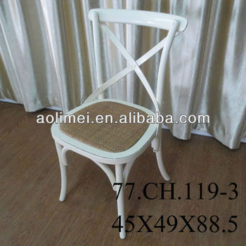White Cross Back Chair French Provincial Furniture