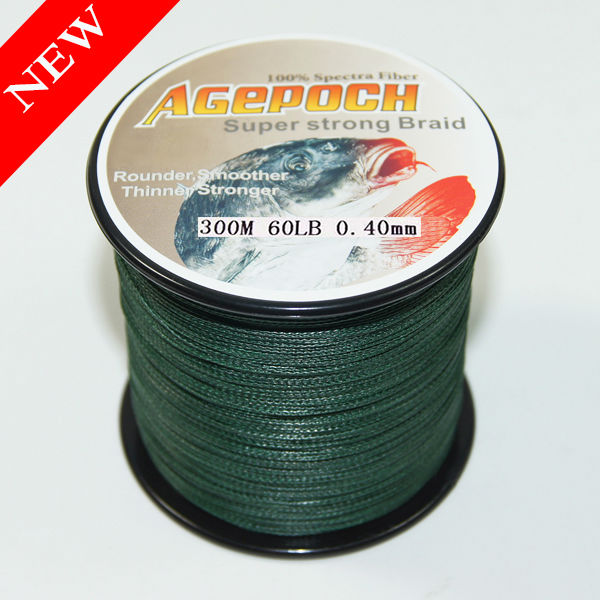 4/8 strand PE green Fishing Line Braid