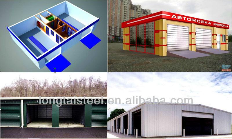 Moderno design isolamento prefabbricato capannone garage for Capannone moderno