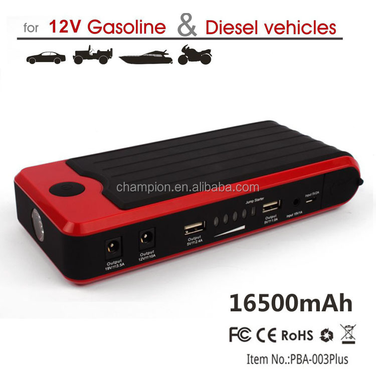 portable car jump starter with air compressor and Safety Hammer