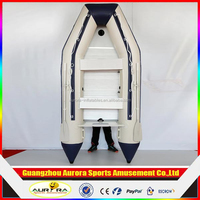 Best popular aluminum floor inflatable fishing boat for sale
