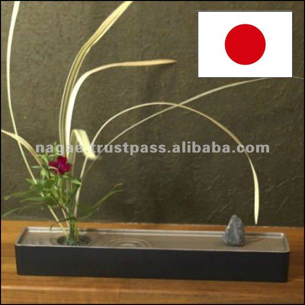 Slim Japanese Metal Flower Vase