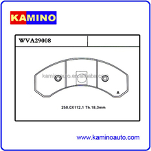 WHOLESALES DISC BRAKE PADS HEAVY DUTY TRUCK AND TRAILER BRAKE PADS FOR KASSBOHRER WVA29008 WEVER/KAMINO ASBESTOS FREE
