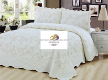 100% cotton embroidery bedcover set, bed coverlets