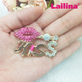 Fashion Gold-Plated pink Sexy Lip and Kiss Word Rhinestone Brooch PIN 50MM for Women Gift Jewelry
