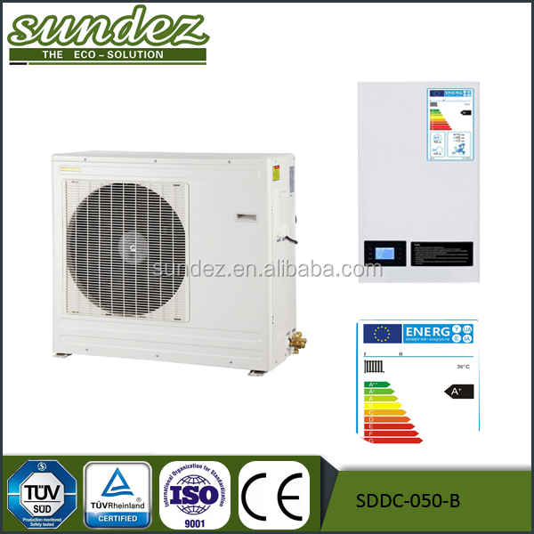 DC Inverter heat pump all in one three in one for heating cooling and hot water