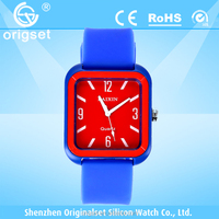 Newest watch Silicone Multi-color Japan movement waterproof cheap wrist watches for women