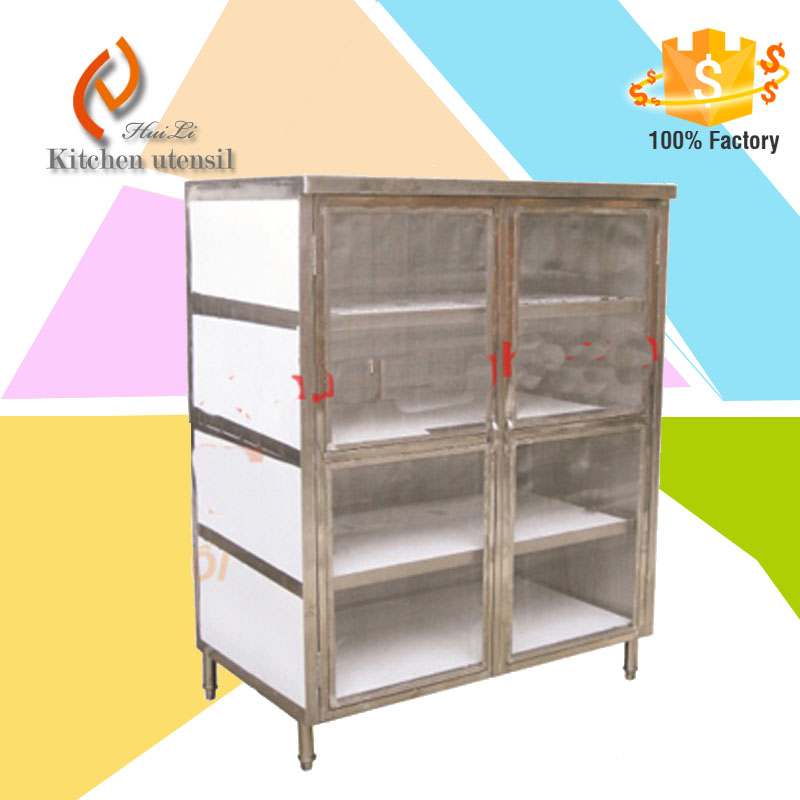 Vietnam hot sale Stainless Steel Commercial Kitchen Mesh food cabinets for hotel project