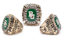 Fans of high-end collections Ring 2005 NCAA college basketball world championship rings Baylor University Bears