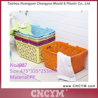 new arrival new popular wholesale plastic laundry baskets with handle