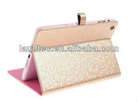 Diamond Texture Leather Smart Cover for Ipad mini