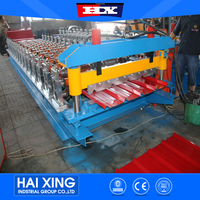 Chinese Supplier Building material zink metal roofing iron panel roll forming machine/roller former machinery