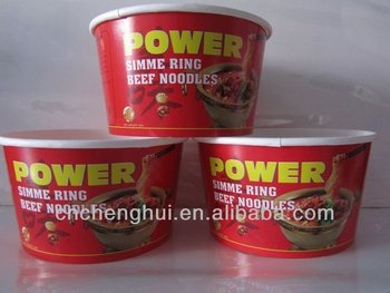 Bargain Instant food paper bowls with lids