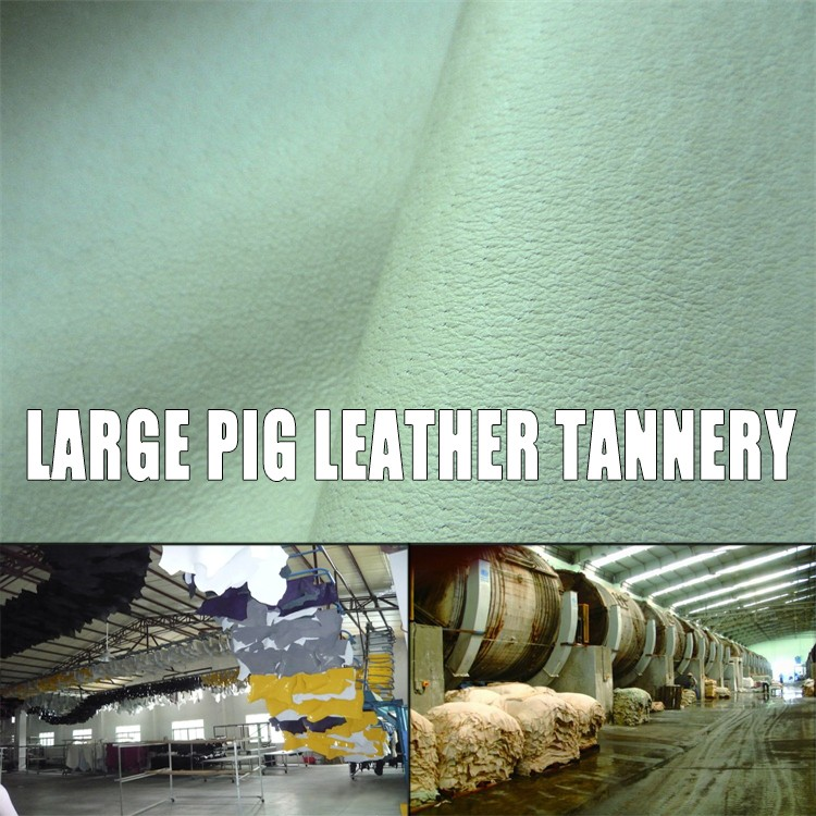environmental shoe grain skin cheap pig leather for gloves and fur