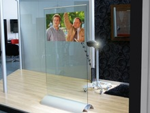 Transparent Glass Touch Screen/Self Adhesive 3D Hologram Display Film/Clear Holographic Rear Projection Film/Foil
