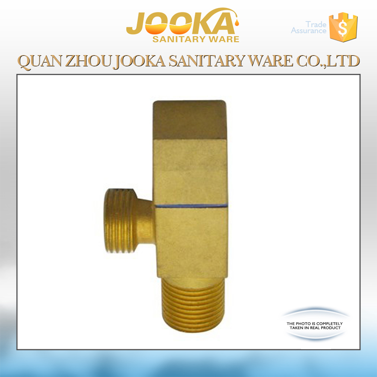 Hot sale brass golden-plated copper concealed angle valve