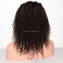 synthetic Wholesale Brazilian Human Hair Kinky Curly front Lace Wigs