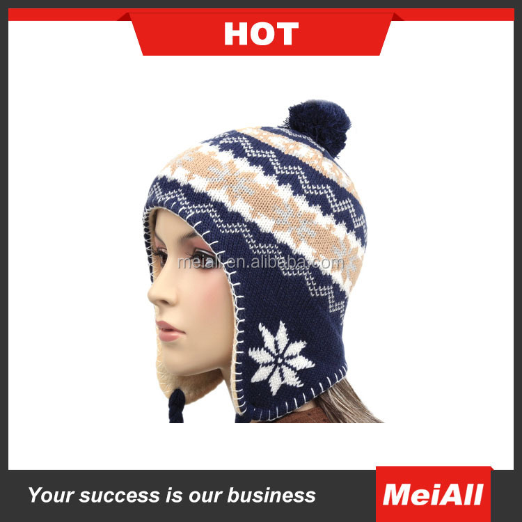 best winter hats, jacquard snowflake winter earflap hats