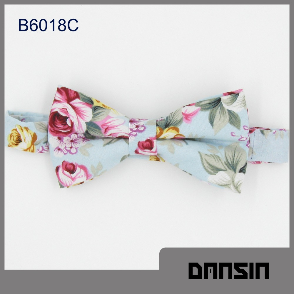 New Arrival Fashion Design Cotton Men Bow Tie Floral