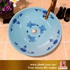 Excellent quality blue and white porcelain goldfish wash hand basins small for hotel decoration