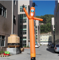factory direct sale orange inflatable air dancers sky wave man for advertising