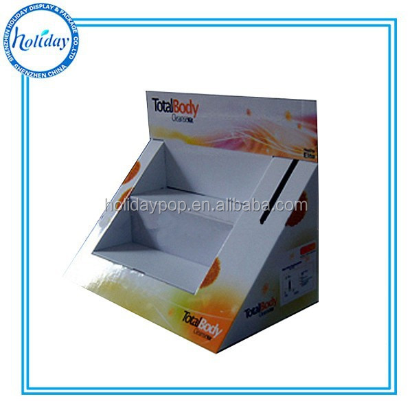 2 Tiers Paperboard Table Promotional Counter Display