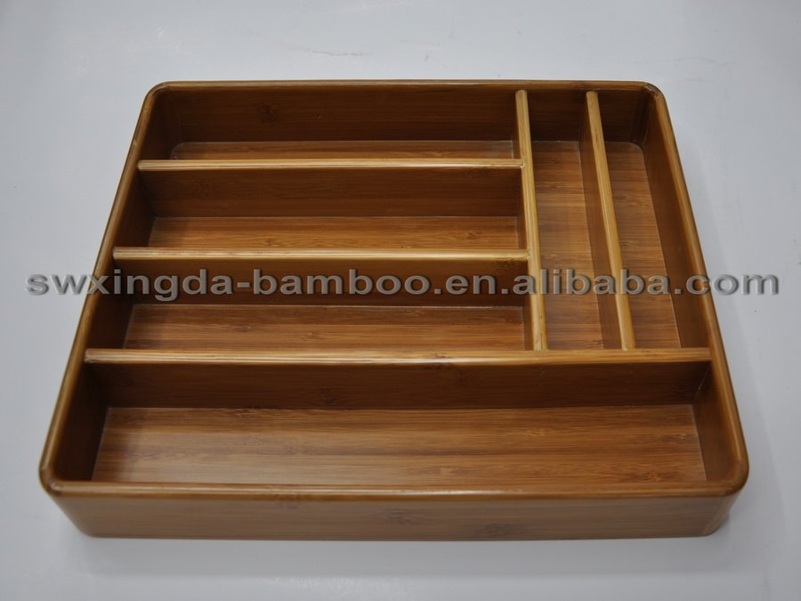 Natural Bamboo Kitchen drawer Cutlery Tray ,Kitchen Drawer Tidy