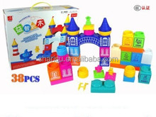 plastic building block toys stacking blocks 38pcs