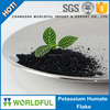 most popular and extracted from leonardite potassium humate shiny flake organic fertilizer