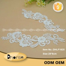 New pretty flower applique design crochet guipure 100% polyester african embroidery applique lace