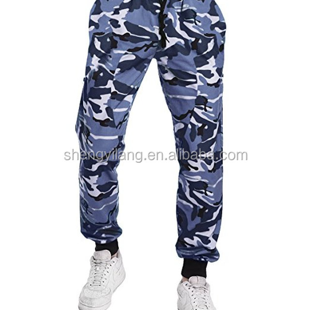 Men's Casual Camo Work Pants Camouflage Cargo Trousers Sports Chino Jogger