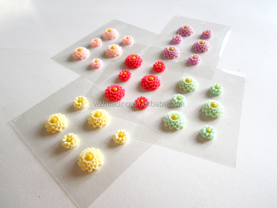 diy artificial daisy flowers flat back resins flowers sticker for jewelry