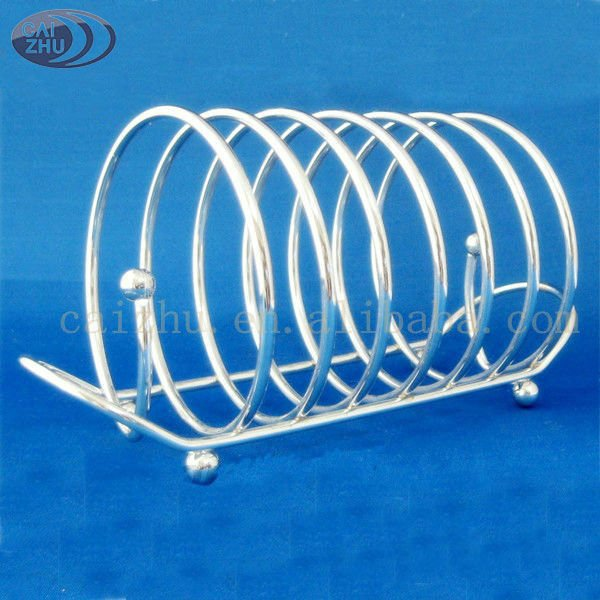 Stainless steel wire bread toast rack for kitchen accessories