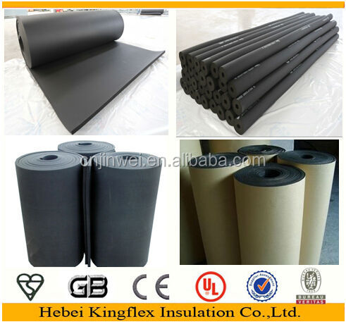 Waterproofing protection closed cell black rubber foam insulation board