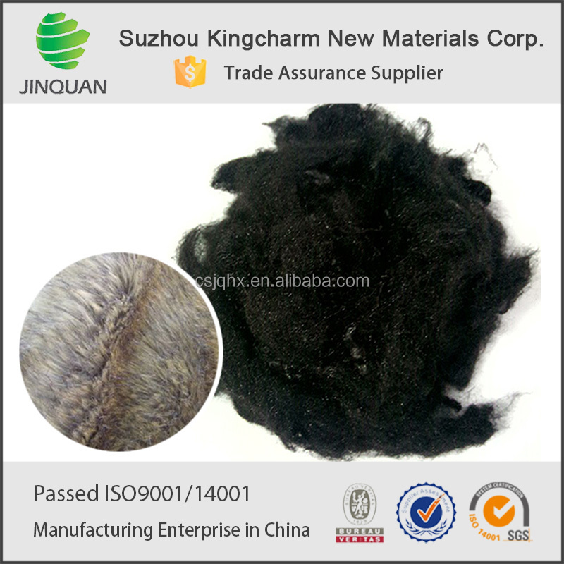recycled colored solid micro 2 denier polyester fiber