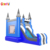 Commercial inflatable snow slide bouncer house combo inflatable castle