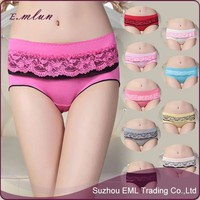 Women Low waist custom print modal cheap underwear / Ladies sexy modal underwear panties