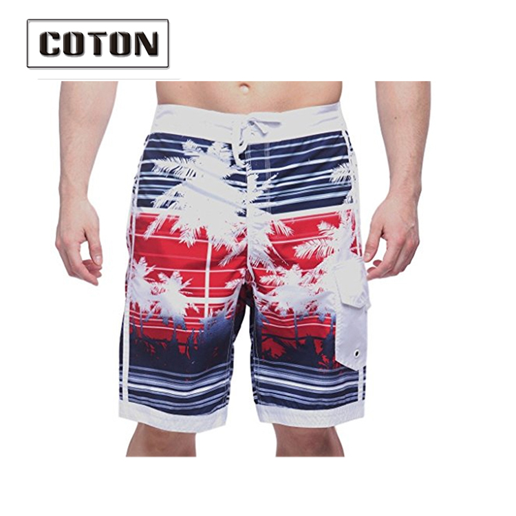 Custom made polyester board shorts Printed surfing blank swim trunks